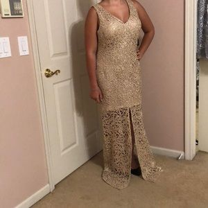 NWT Marina dresses,  gold long evening dress